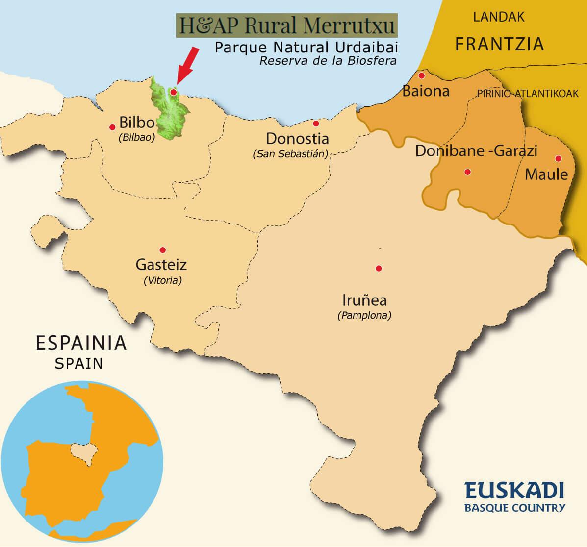 mapa del País vasco